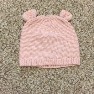 Pink Gap baby hat